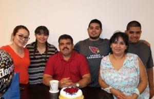 Abiezer Acosta and his family.