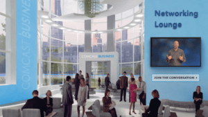 Rendering of the Comcast Business Conference networking lounge